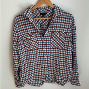 Womens flannel button down